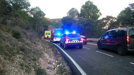 L'accident va provocar el tall de la carretera durant més d'una hora. Foto: cedida.