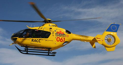 El ferit greu va ser traslladat amb un helicòpter del SEM a l'hospital Joan XXIII de Tarragona. Foto: Arxiu.