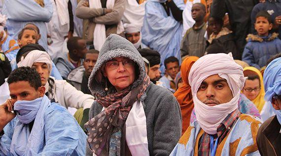 Elena Morató, aquest passat gener al 'Festival des Villes Anciennes' a la ciutat de Chinguetti, Mauritania. Foto: Elena Morató
