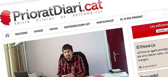 Primera portada de PrioratDiari.cat
