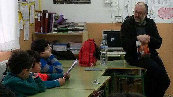 Tibau a l'escola de Cornudella el passat 23 de març. Foto: Mònica Ganduxé.