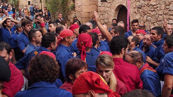 Els Brivalls i els Torraires, dissabte 15 d'agost a Siurana. Foto: Helena Miró.