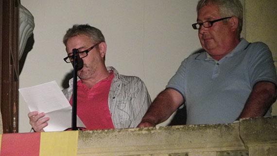 El periodista Toni d'Armengol enceta amb el seu pregó la Festa Major. Foto: Cedida.