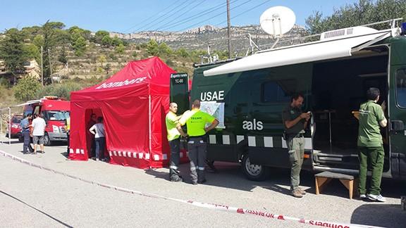 Punt de control de trànsit, ubicat a Cornudella de Montsant, a la carretera de la Morera. Foto: Carles Llavaneras.