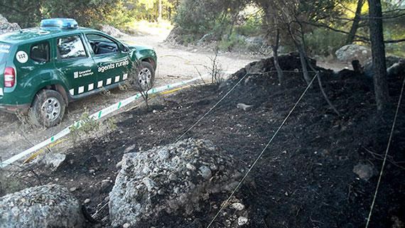 Els cos d'Agents Rurals s'encarrega de la investigació. Foto: Cos d'Agents Rurals.