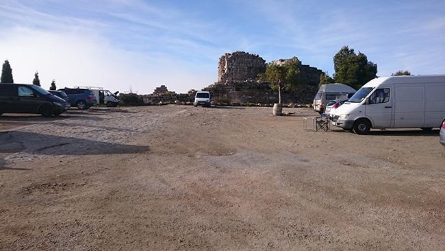 Siurana aparcament Castell
